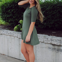 Taking Chances Dress - Olive