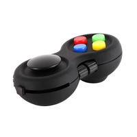 Fidget Creative Anti-anxiety and Depression Toys For Girl Boys Children Adults Christmas Gifts (Fidget Pad, Black)