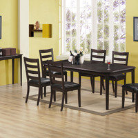 """Cappuccino Cherry 42""""X 60""""X 78"""" Dining Table"""