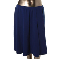 NY Collection Womens Knit Pull On A-Line Skirt