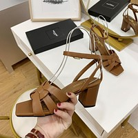 ysl women casual shoes boots fashionable casual leather women heels sandal shoes 226