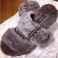 UGG Women Fashion Wool Slippers Shoes Sandals