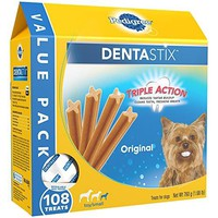 Toy/Small Dog Chew Treats, Original, (Pack of 108), Reduces Plaque and Tartar Buildup