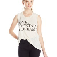 Chaser Women's Love Cocktails and Dreams Graphic T-Shirt