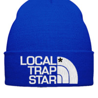 local trap embroidery hat - Beanie Cuffed Knit Cap