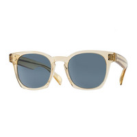 Oliver Peoples Byredo Photochromic Square Sunglasses, Transparent Champagne