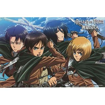 Attack on Titan Anime Cartoon Poster 22x34