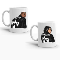 Kanye West Kim Kardashian Just Married Set Pablo T.L.O.P The Life of Pablo Yeezy Yeezus Wedding Bridal Shower Ceramic Coffee Morning Mug