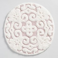 Blush Round Medallion Tufted Bath Mat