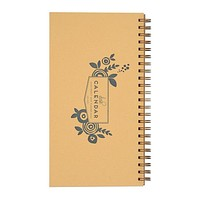 Floral Undated Wide Horizontal Weekly Desk Planner