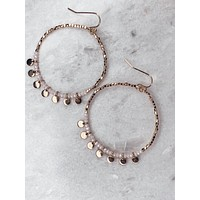Bead & Disc Charm Earrings - Ivory
