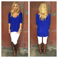 Royal Blue Modal Basic Tee