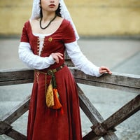 15th Century Linen Medieval Kirtle, Peasant or Townswoman Dress