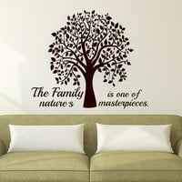 Wall Decals Family Quote Decal Vinyl Sticker Tree Home Decor Bedroom Dorm Living Room MN 54