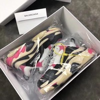 Simple-Balenciaga women's Embroidery Leisure Sports Shoes YELLOW GREY green Shoes Top Quality 7US  8 US,9   US,10 US,11 US