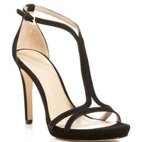 Tory Burch Ankle Strap Sandals - Shelley Suede High Heel