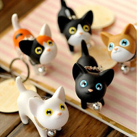 Unisex Kitty Cat Key Chains Keyrings HandBags Pendant Ornament Gifts Toys = 1929574916