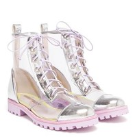 SOPHIA WEBSTER | Transparent PVC Boots with Heart Dot Socks | Browns fashion & designer clothes & clothing