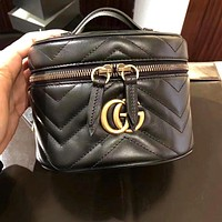 GUCCI Popular Women Shopping Leather Handbag Tote Shoulder Bag Crossbody Satchel Backpack