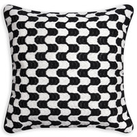 Black And White Puzzle Bargello Throw PillowITEM #: 23386