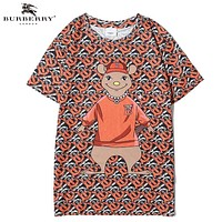 Burberry New fashion mouse more letter print couple top t-shirt