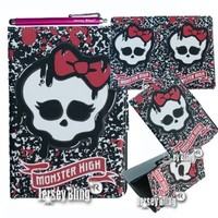 MONSTER HIGH Skull Punk Girly iPad Air (iPad 5) Lightweight Slim Smart Cover/Case with FREE Monster High Gift Item & Jersey Bling® Stylus