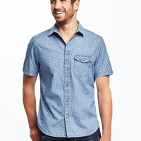 Slim-Fit Patterned Classic Shirt for Men | Old Navy