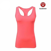 Lululemon Women Yoga Gym Running Sport Vest Tank Top