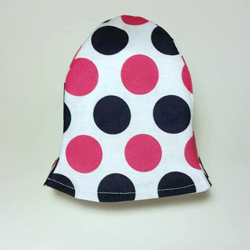 Polka Dot Girl Hat, Sun Hat for Baby, Baby Shower Gift, Pink and Blue Hat