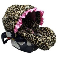 Baby Bella Maya Pink Leopard Infant Car Seat Cover:Amazon:Baby