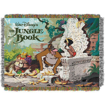 Disney Jungle Book King Louie 051  Woven Tapestry Throw Blanket (48x60)