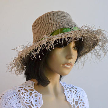 Exclusive summer hat, kentucky derby hat, Women Hat, Sun Hats, Spring hat, Beach hat, Cotton hat, Bucket hat, Floppy hat, Derby hat, crochet