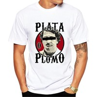 Mens T Shirts Fashion 2017 New Brand Cotton Men Clothing Male Slim Fit T Shirt Pablo Escobar Printed Man T-shirts