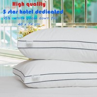 Zero Pressure Memory Pillow Neck Health textile bedding 95% goose down pillow white duck down pillow body / Sleeping / hotel