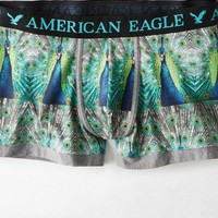 AEO Men's Photo Real Low Rise Trunk (Green)