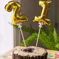 Mini Number Balloon Cake Toppers Set