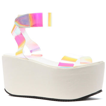 UNIF Shoes Spacer Platforms in White