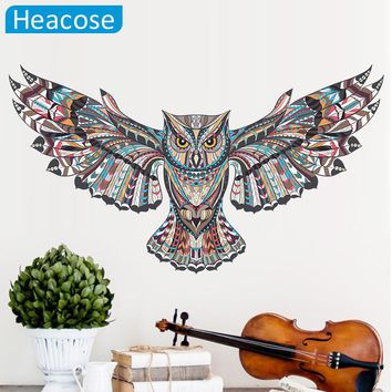 cute owl wall sticker big birds wall stickers for kids rooms ceiling muursticker muraux wall decal home decor living room poster