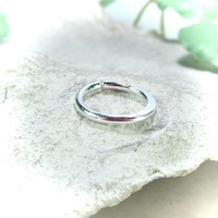 Septum Ring Sterling Silver Chiseled