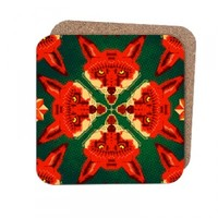 Geometric Fox Pattern Coasters | chobopop