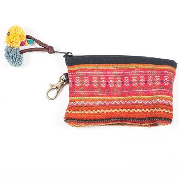 Vintage Hmong Hill Tribe Coin Purse (Thailand) - Style 14