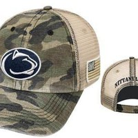Penn State Nittany Lions Hat Camo PSU Salute To Service NCAA Adjustable Declare