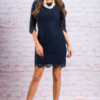 Ever Enchanting Dress, Navy