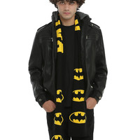 DC Comics Batman Logo Knit Scarf