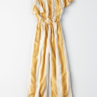 AE One Shoulder Culotte Jumpsuit, Yellow