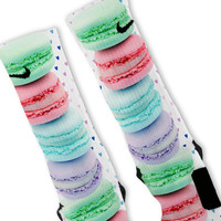 I Love Macaroons Custom Nike Elite Socks