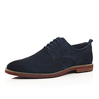 River Island MensNavy suede lace up brogues