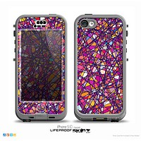 The Shards of Neon Color Skin for the iPhone 5c nüüd LifeProof Case