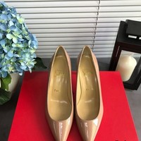 Christian Louboutin Cl Kate Pumps Nude Heel Height 6.5cm