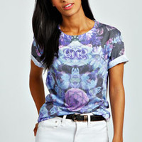 Maya Mirrored Floral Sublimation Tee